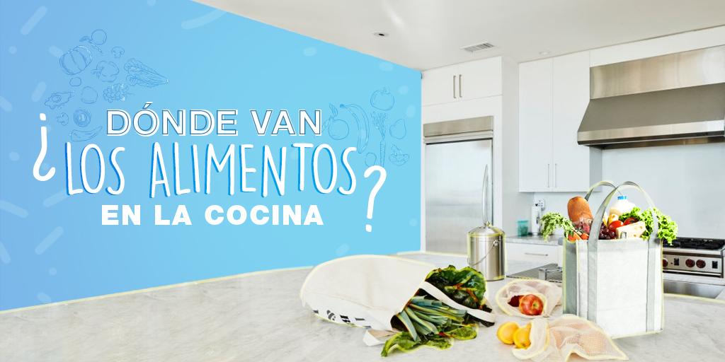 ¿Dónde van los alimentos en la cocina?